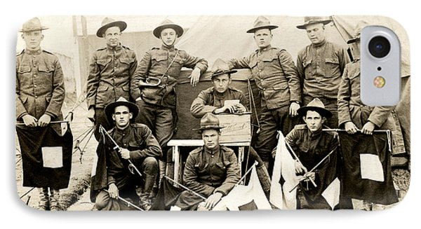 Wwi Us Army Signal Corps IPhone Case by Historic Image