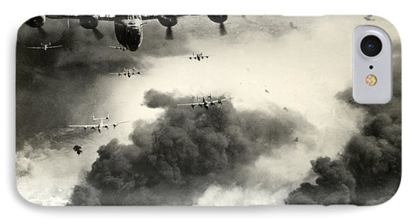 Wwii B-24 Liberators Over Ploesti IPhone Case by Historic Image