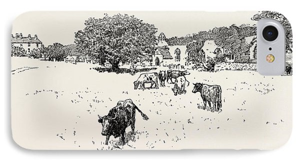 Wycliffe, Is A Village On The South Bank Of The River Tees IPhone Case by English School