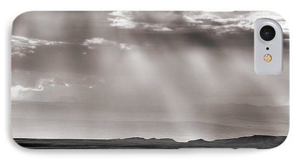 Wyoming Cloud Light Panoramic IPhone Case by Leland D Howard