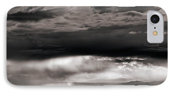 Wyoming Storm Drama IPhone Case by Leland D Howard