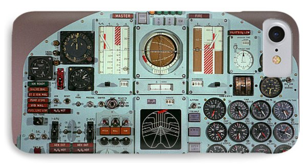 X-15 Aircraft Control Panel IPhone Case by Nasa