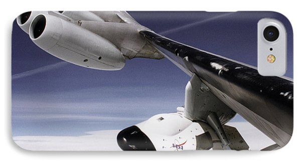 X-38 Spacecraft On B-52 Wing IPhone Case by Nasa