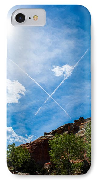X Marks IPhone Case by Rhys Arithson