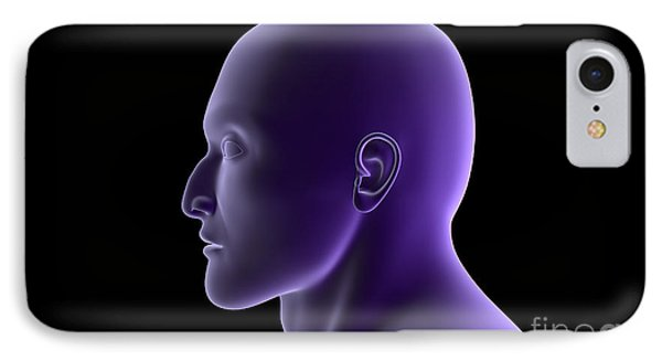 X-ray View Of Human Face, Profile View Phone Case by Stocktrek Images