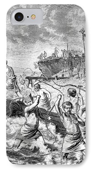 Xerxes Whipping The Sea IPhone Case by Bildagentur-online/tschanz