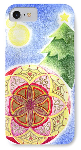 IPhone Case featuring the drawing X'mas Ornament by Keiko Katsuta