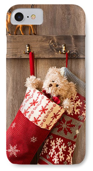 Xmas Stockings IPhone Case by Amanda Elwell