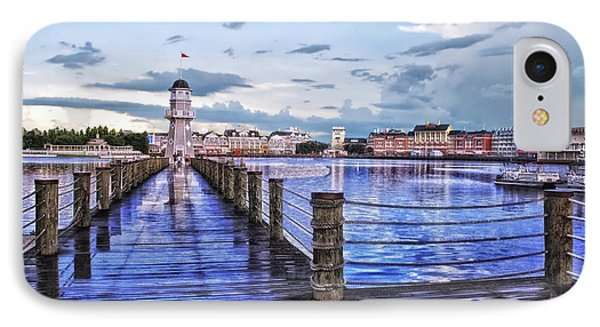 Yacht And Beach Club Lighthouse IPhone Case by Thomas Woolworth