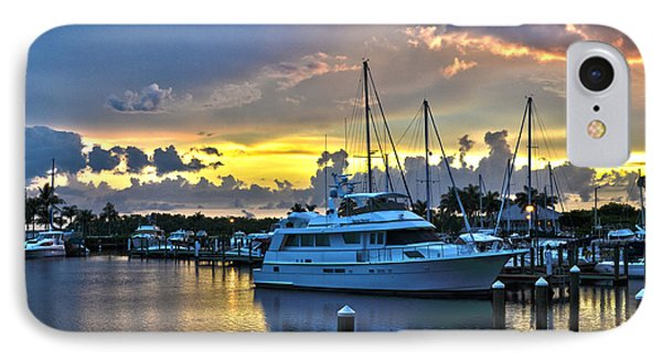 Yacht At Cape Coral Florida Marina And Resort 2 IPhone Case by Timothy Lowry