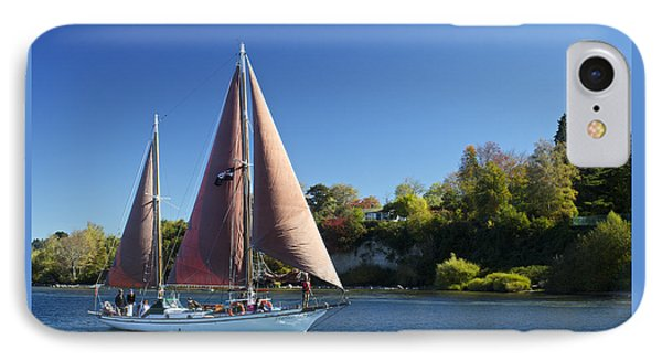 Yacht Fearless On Lake Taupo  IPhone Case by Venetia Featherstone-Witty
