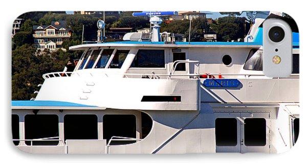 Yacht On Ocean Sausalito California IPhone Case by DeAnna Denise Adams