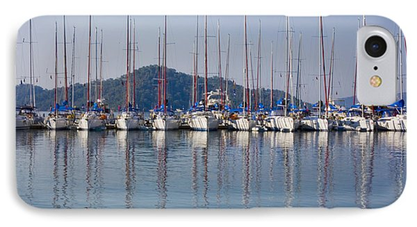 Yachts Docked In The Harbor Gocek Phone Case by Christine Giles