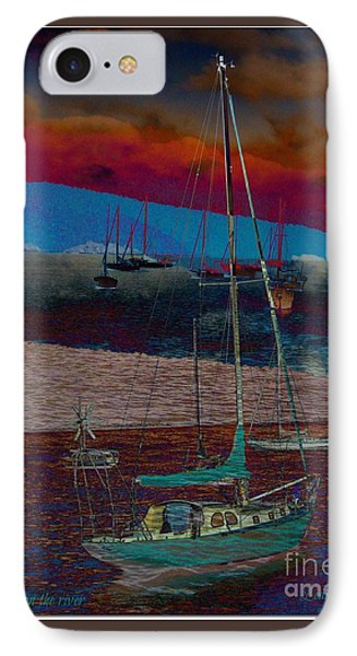 IPhone Case featuring the photograph Yachts On The River by Leanne Seymour