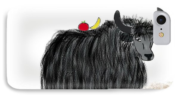 Yak Has A Snack IPhone Case by Gabrielle Kristine