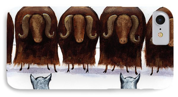 Yak Line IPhone Case by Christy Beckwith