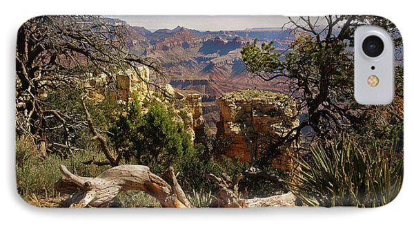 IPhone Case featuring the photograph Yaki Point 4 The Grand Canyon by Bob and Nadine Johnston