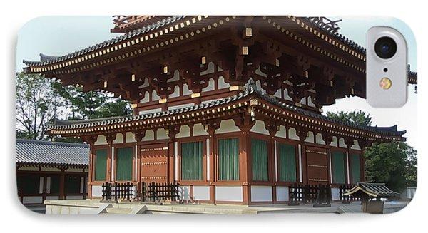 Yakushi-ji Temple West Pagoda - Nara Japan Phone Case by Daniel Hagerman