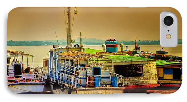 IPhone Case featuring the photograph Yangon Harbour by Wallaroo Images