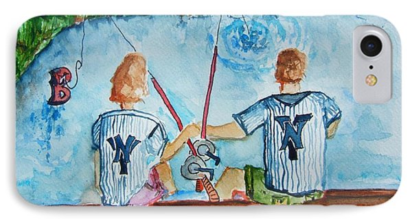 Yankee Fans Day Off Phone Case by Elaine Duras