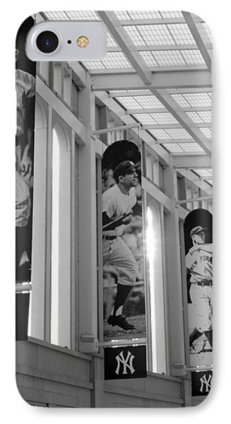 Yankee Greats Of Yesteryear In Black And White IPhone Case by Aurelio Zucco