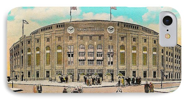 Yankee Stadium Postcard Phone Case by Bill Cannon