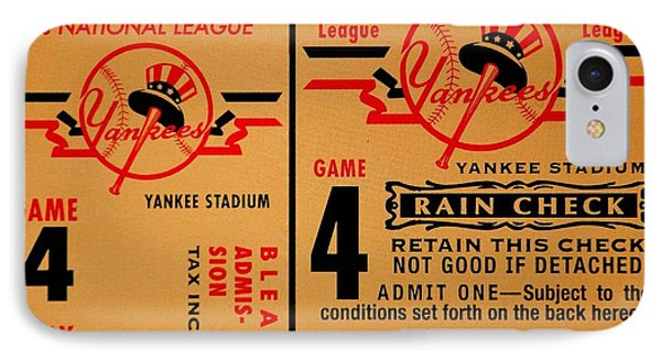 Yankees 4th Straight - Vintage IPhone Case by Benjamin Yeager