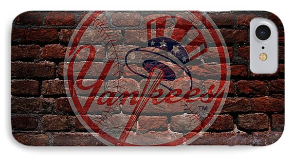 Yankees Baseball Graffiti On Brick  IPhone Case by Movie Poster Prints
