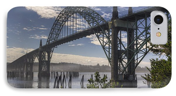 Yaquina Bay Bridge IPhone Case by Mark Kiver