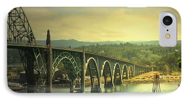 Yaquina Bay Bridge Or IPhone Case by Joyce Dickens