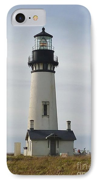 IPhone Case featuring the photograph Yaquina Bay Lighthouse by Susan Garren
