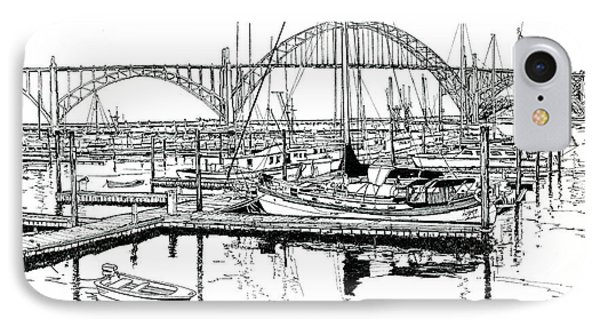 Yaquina Bay Newport Oregon Phone Case by Ira Shander