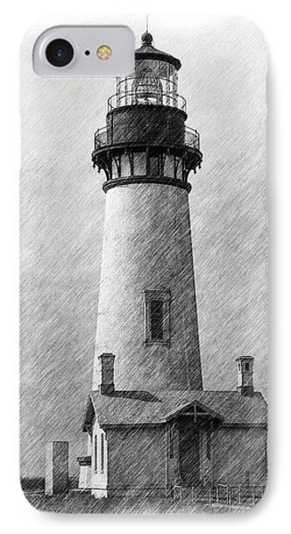 Yaquina Lighthouse IPhone Case by Dennis Bucklin