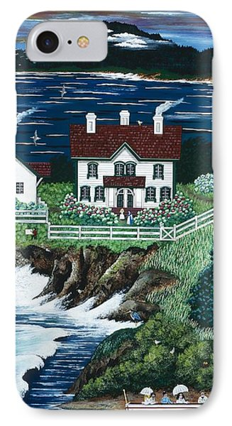IPhone Case featuring the painting Yaquina Lighthouse by Jennifer Lake