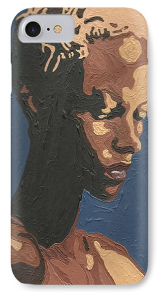 IPhone Case featuring the painting Yasmin Warsame by Rachel Natalie Rawlins