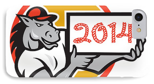 Year Of Horse 2014 Showing Sign Cartoon Phone Case by Aloysius Patrimonio