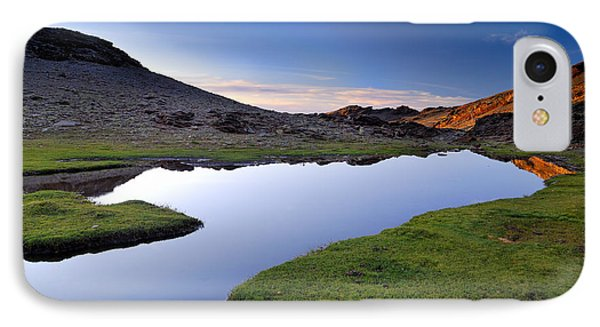 Yeguas Lake At Sunset Phone Case by Guido Montanes Castillo