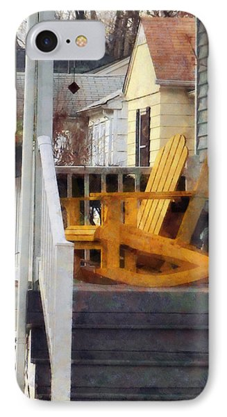 Yellow Adirondack Rocking Chairs Phone Case by Susan Savad