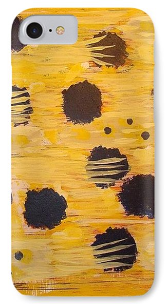 Yellow And Blue Phone Case by Olivia  M Dickerson