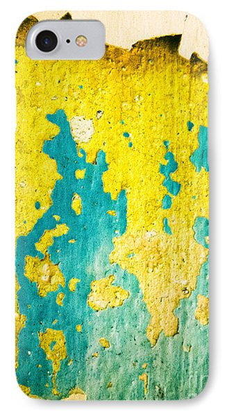 IPhone 7 Case featuring the photograph Yellow And Green Abstract Wall by Silvia Ganora