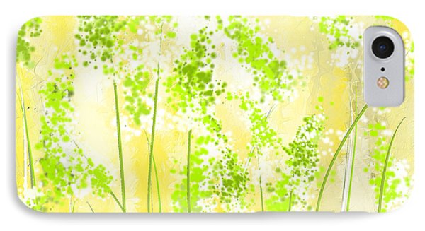 Yellow And Green Art IPhone Case by Lourry Legarde
