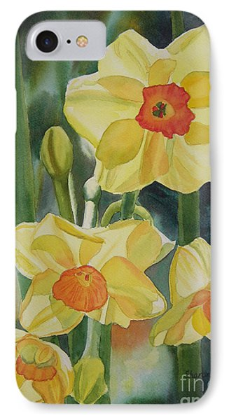 Yellow And Orange Narcissus IPhone Case by Sharon Freeman
