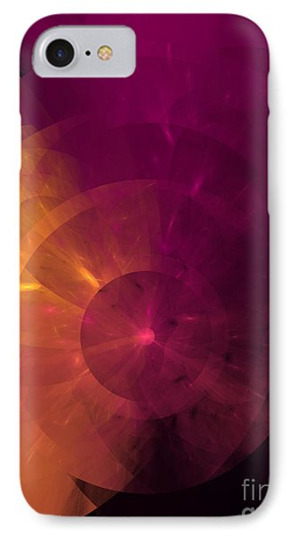 Yellow And Purple Umbrella Top Abstract  Phone Case by Andee Design