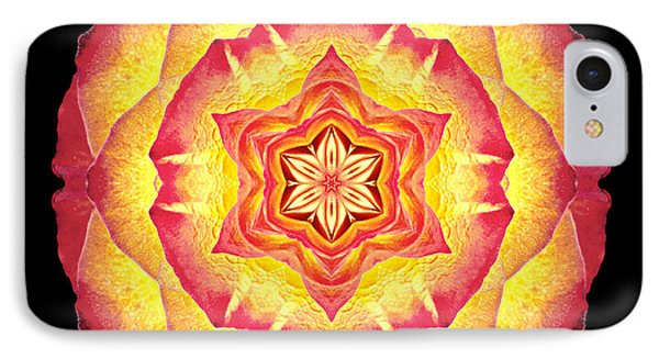 Yellow And Red Rose IIi Flower Mandala IPhone Case