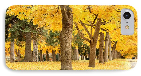 Yellow Autumn Wonderland Phone Case by Carol Groenen