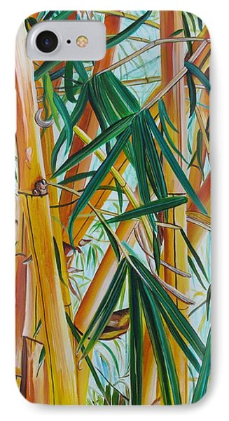 Yellow Bamboo IPhone Case by Marionette Taboniar
