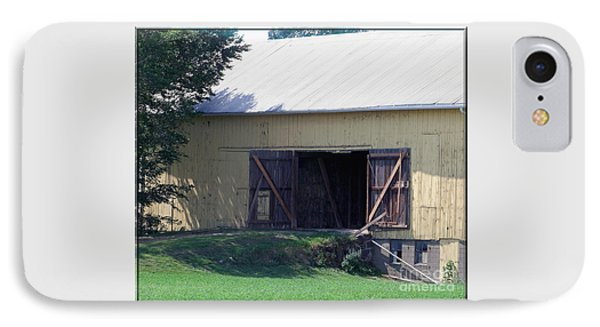 IPhone Case featuring the photograph Yellow Barn by Gena Weiser