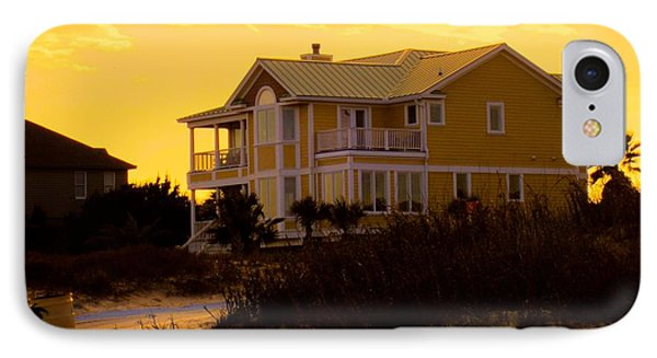 Yellow Beauty At Isle Of Palms Phone Case by Kendall Kessler