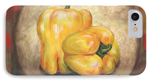 Yellow Bell Peppers Phone Case by Linda Mears