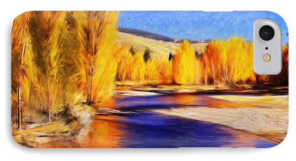 Yellow Bend In The River II IPhone Case